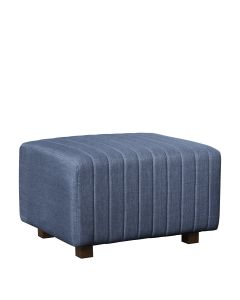 Beverly Small Bench Ottoman, Ocean Blue Fabric