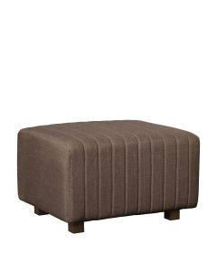 Beverly Small Bench Ottoman, Brown Fabric