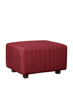 Beverly Small Bench Ottoman, Red Fabric