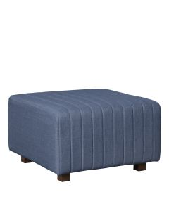 Beverly Square Ottoman, Ocean Blue Fabric