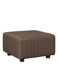 Beverly Square Ottoman, Brown Fabric