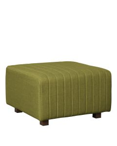 Beverly Square Ottoman, Olive Green Fabric