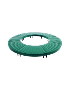 Endless Closed Circle Ottoman, Emerald Velvet