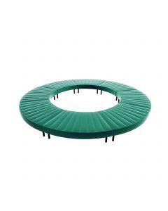 Endless Closed Circle Ottoman, Emerald Velvet