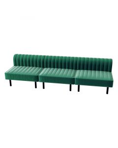 Endless Square Low Back Sofa, Emerald Velvet