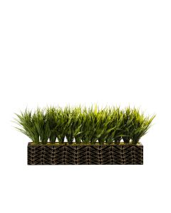 Grass Centerpiece Logo, Long Side