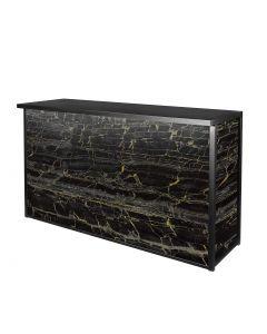 Maxim Wet Bar, LED Lighted, Black/Gold Marble