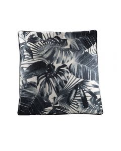 Tropical Pillow, Black/Beige
