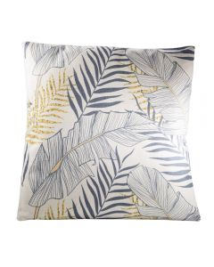 Tropical Pillow, Gray/Yellow