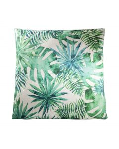 Tropical Pillow, Green/White