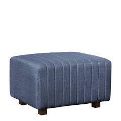 Beverly Small Bench Ottoman, Ocean Blue Fabric