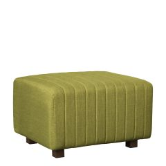 Beverly Small Bench Ottoman, Olive Green Fabric