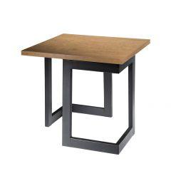 Geo End Table w/ Black Base