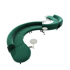 Endless Powered Low Back S Curve Sectional w/ 4 Round Tables