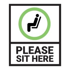 Please Sit Here Decal
