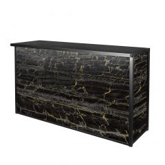 Maxim Wet Bar, LED Lighted, Black/Gold Marble