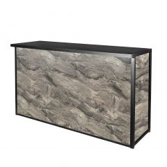 Maxim Dry Bar, LED Lighted, Gray Marble