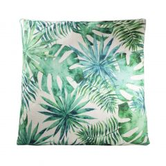 Tropical Pillow, Green/White