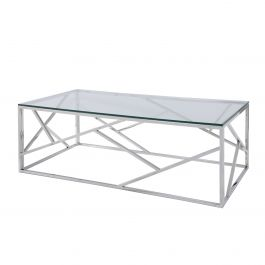 Alondra Cocktail Table, Glass Top