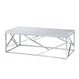 Alondra Cocktail Table, White Marble Top