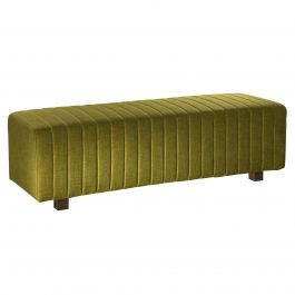 Beverly Bench Ottoman, Olive Green Fabric