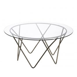 Mesa Cocktail Table, Glass Top