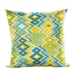 Zig Zag Pillow, Blue/Green