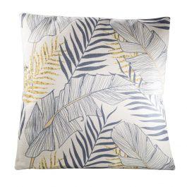 Tropical Pillow, Gray/Yellow