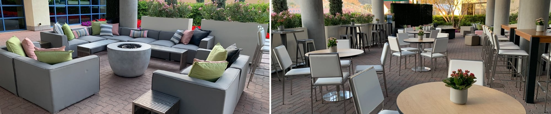 gray outdoor lounge