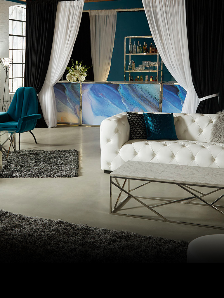 White Constellation Sofa for Rent