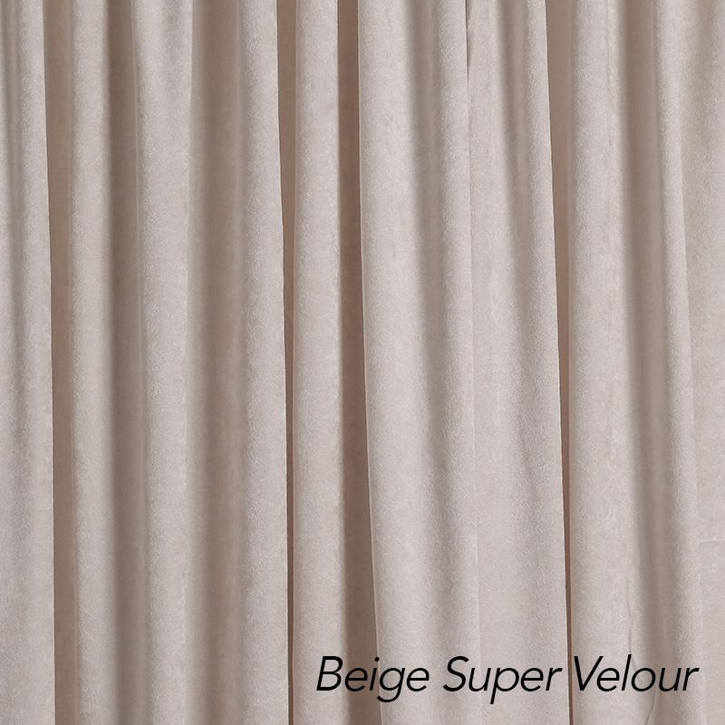 beige velour drape color swatch