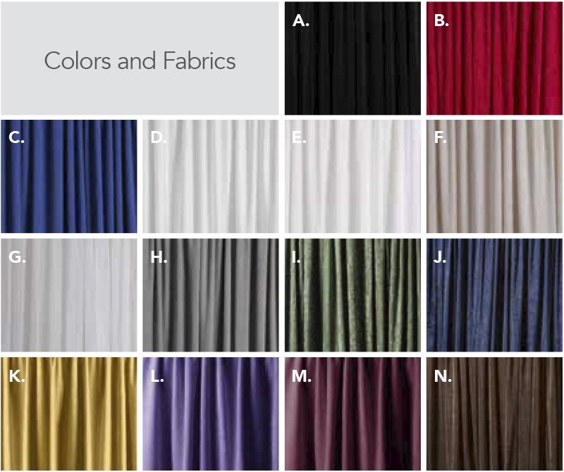 Drape Color Options