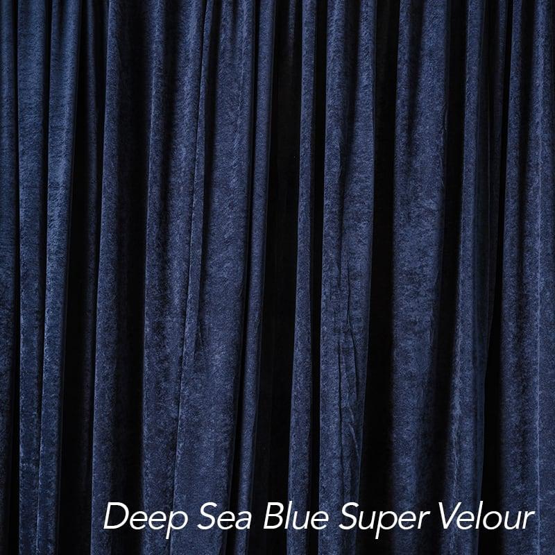 Deep Sea Blue Super Velour