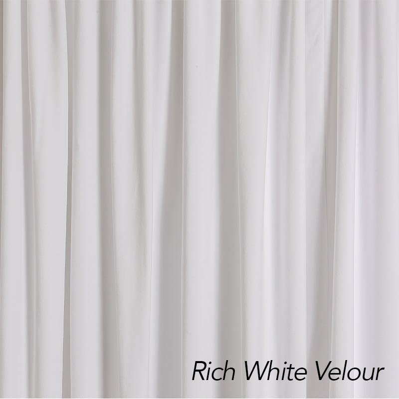 Rich White Velour